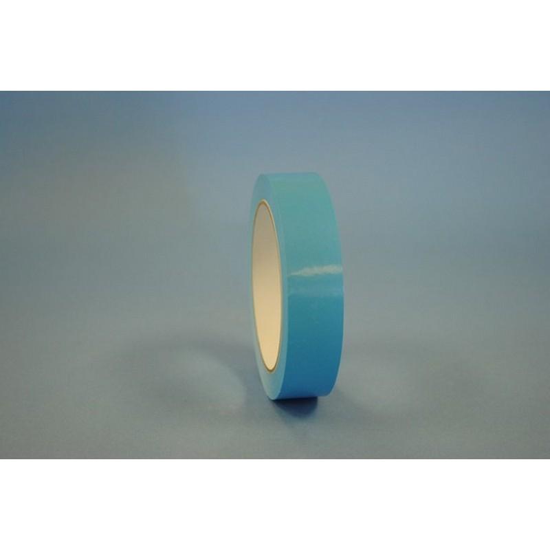 "3/8"" x 180 Yd Light Blue UPVC Produce Bag Sealing Tape (Case of 6 Rolls) 20003"