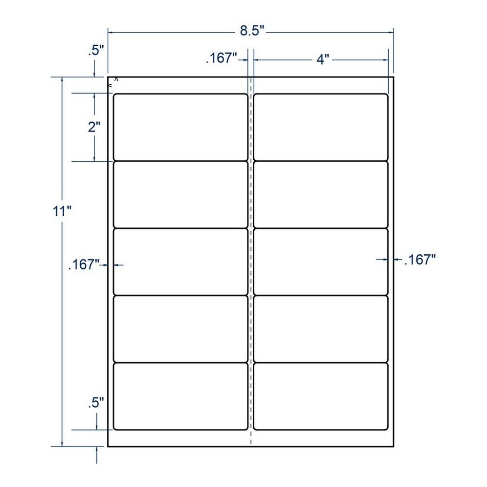 4 x 2 inkjet laser labels white 10 labels per sheet 250 sheets