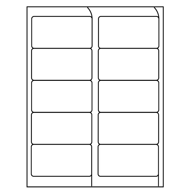 4 x 2 inkjet laser labels white 10 labels per sheet 1000