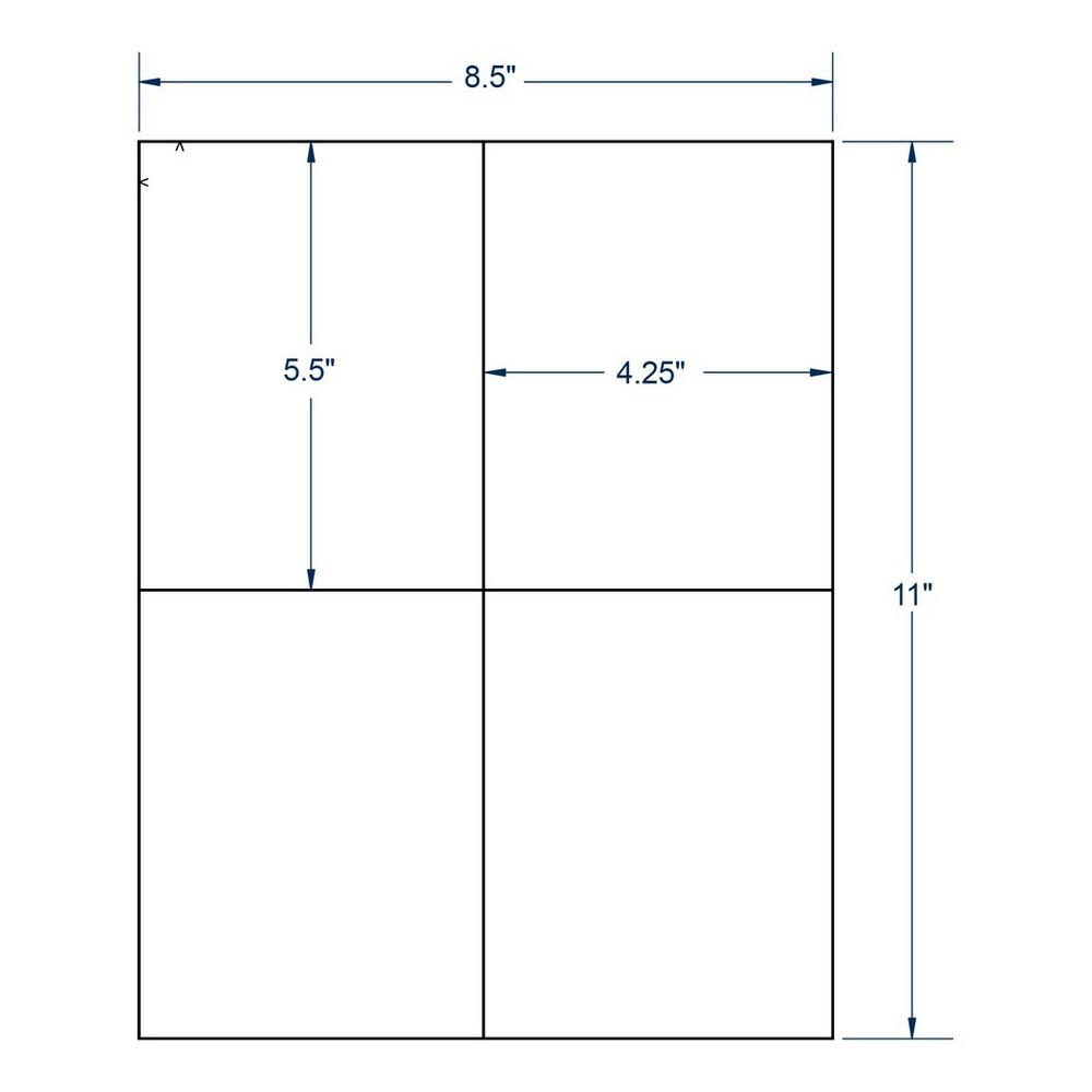 4 25 x 5 5 white shipping label 4 labels per sheet 100 sheets