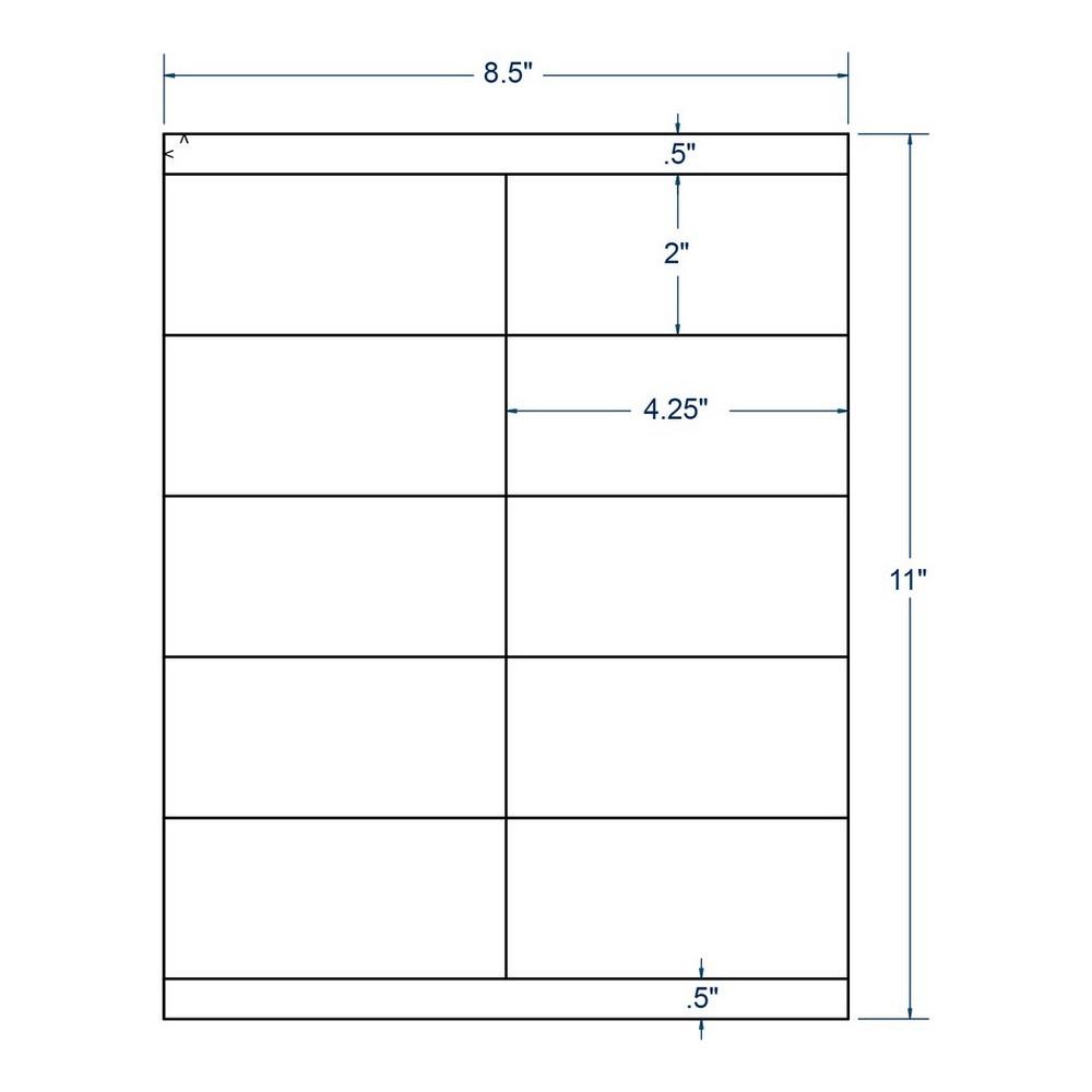 4 25 x 2 clear labels 10 labels per sheet 100 sheets per carton