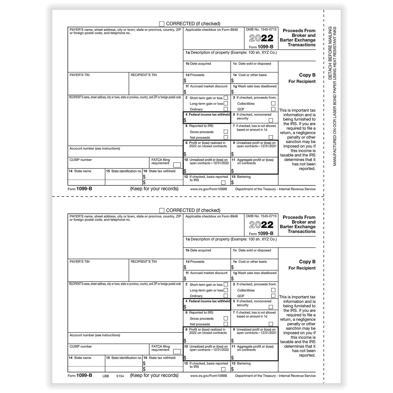1099 b broker rec copy b cut sheet 400 formspack image falaconquin