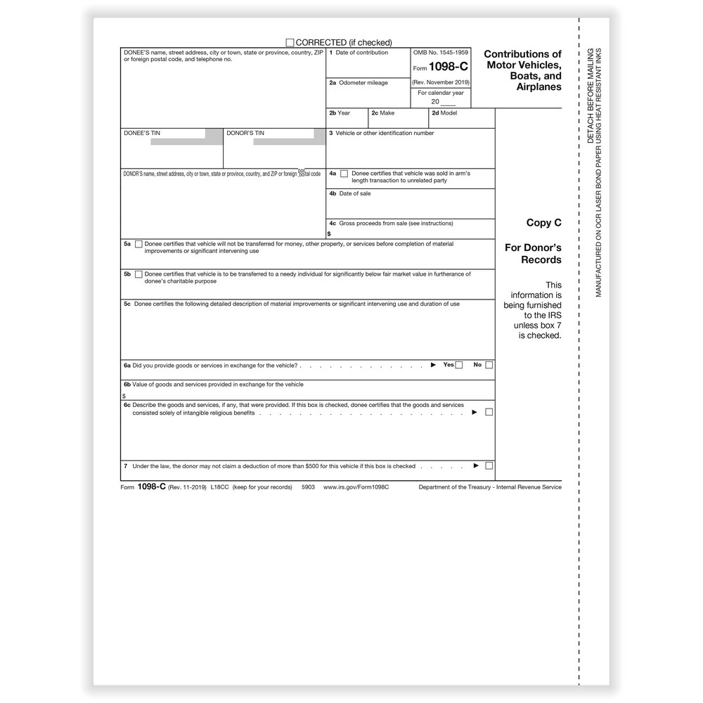 1098 C Form Form 1098 C Templates Fillable Amp Printable Samples ...