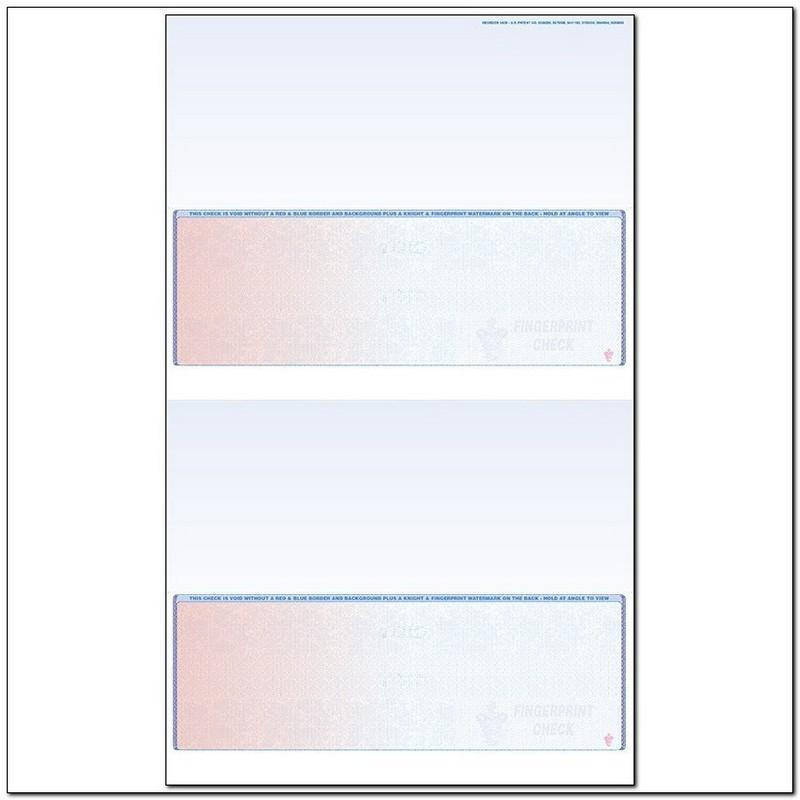 Red to Blue Rainbow Laser Check, Bottom Position, Fingerprint II, Panels at 3-1/2 - 3-1/2 - 3-1/2 - 3-1/2 (Carton of 500)