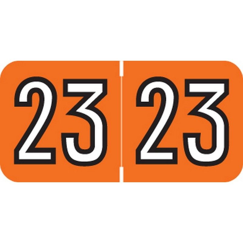 Barkley Compatible 23 Yearband Labels, 1-1/2 X 3/4 - 500 Per Roll - $18.32