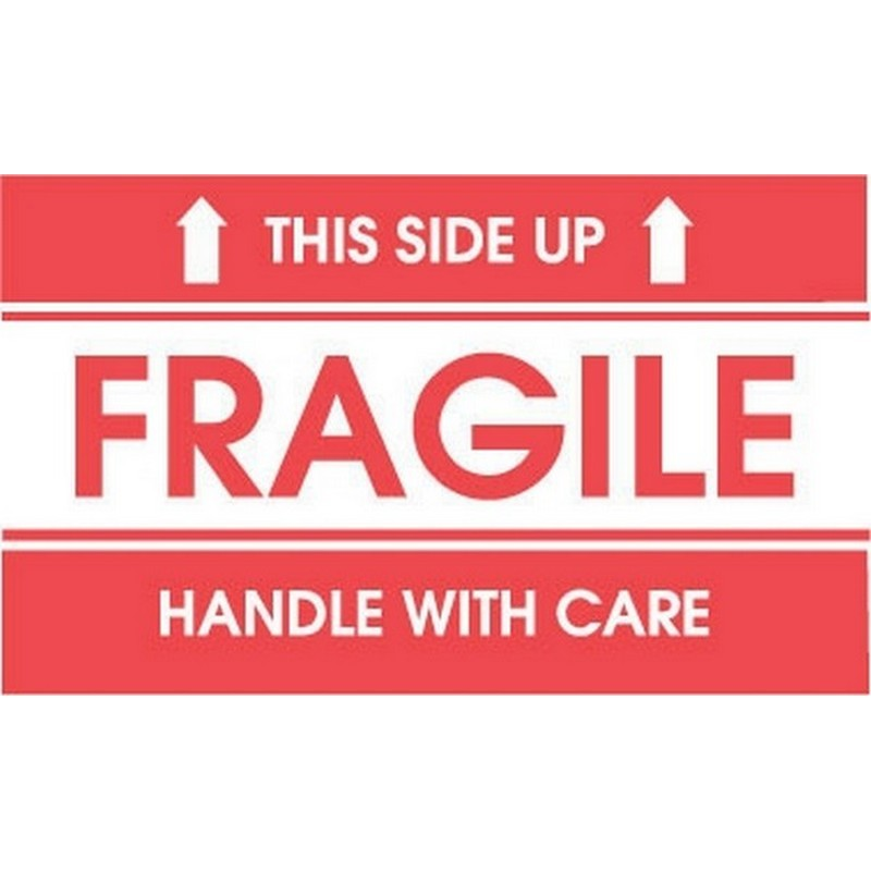 "2"" x 3"" Fragile This Side Up Labels (500 per Roll)"