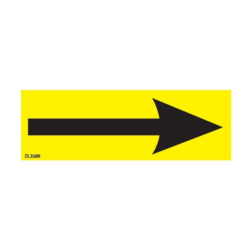 1 x 3 arrow labels 500 per roll