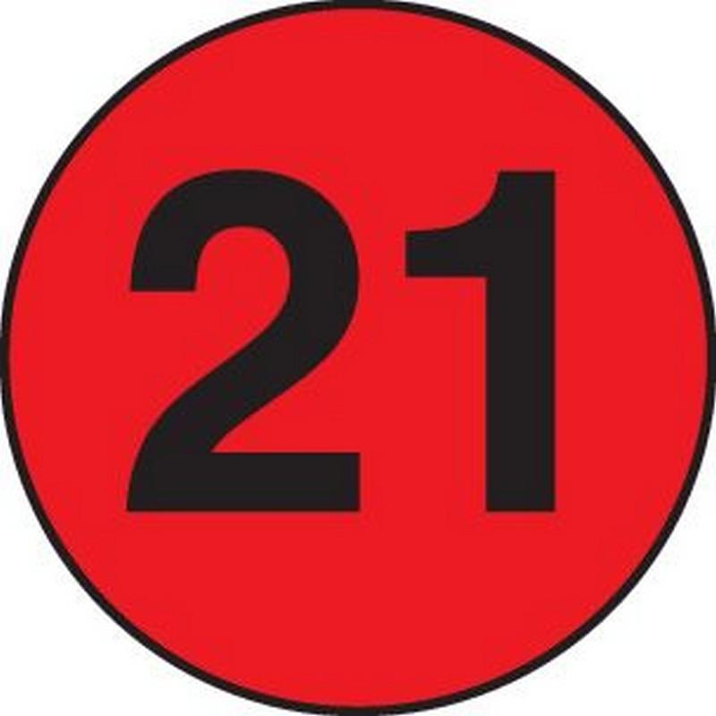 Diameter number 21 cir...