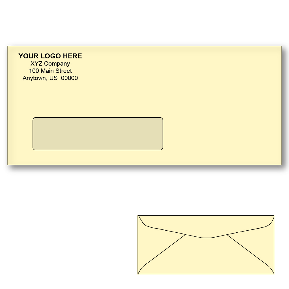 Custom printed 10 ivory window envelopes 4 1 8 x 9 1 2 for 10 window envelope