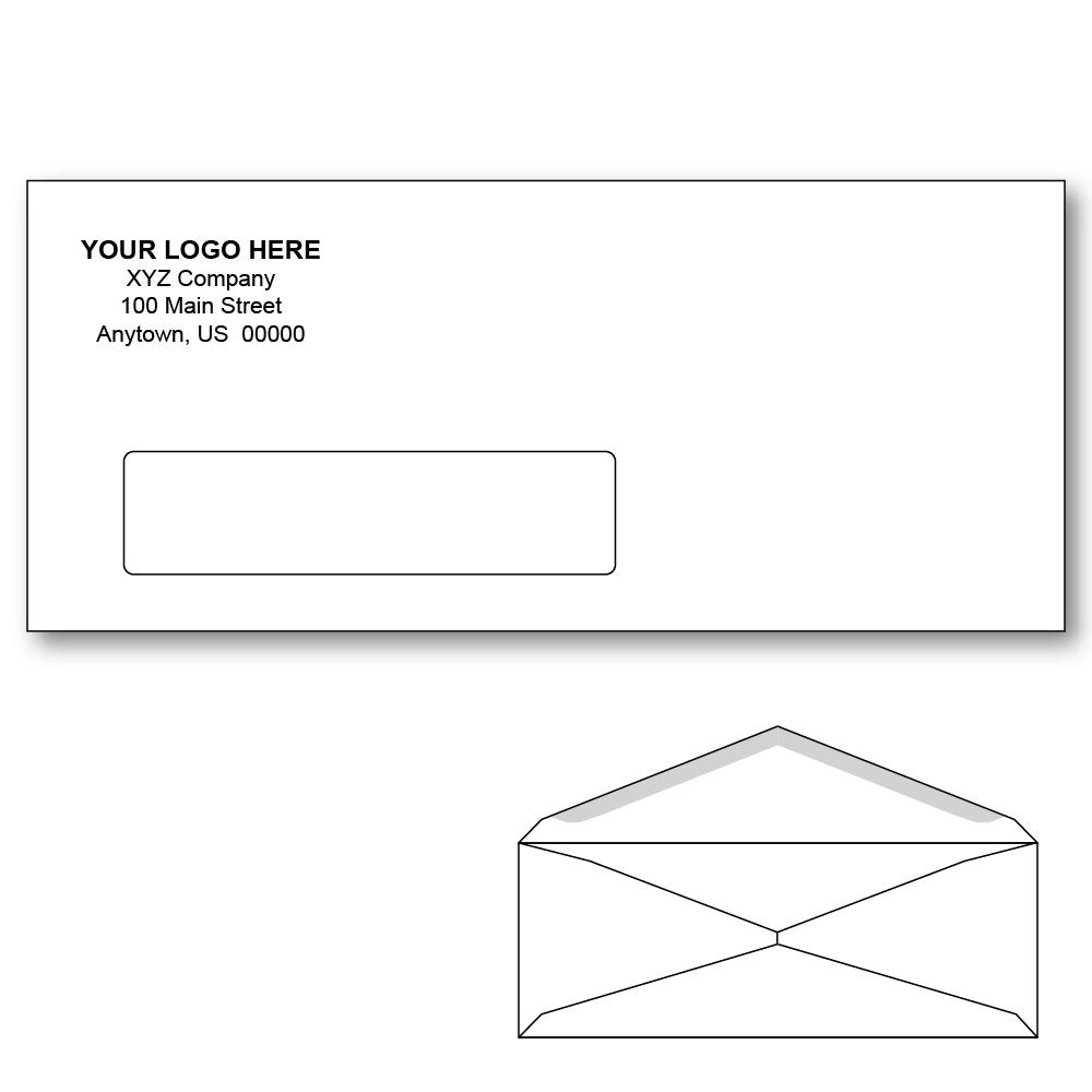 Custom printed 10 window envelopes 4 1 8 x 9 1 2 white for 10 window envelope
