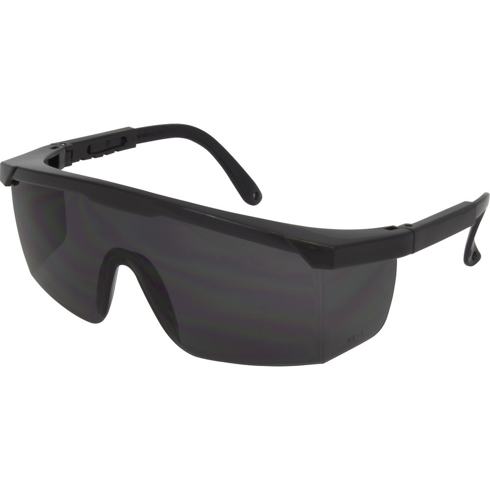 Black Frame Safety Glasses : Safety Glasses, Black Frame, Smoke Lens (12 Pair Per Box)