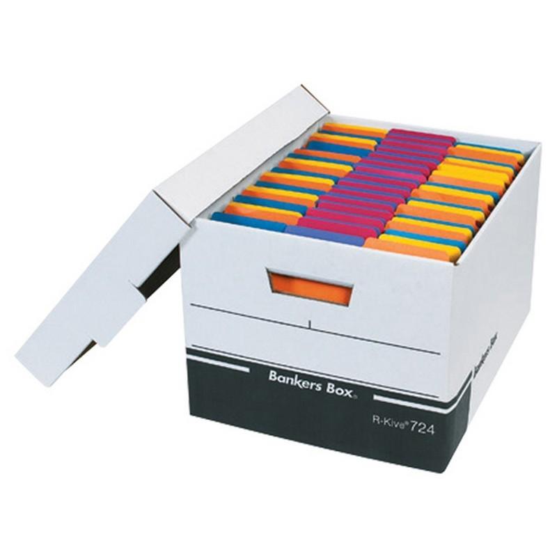 Letter legal premium white black file storage boxes with for Letter legal storage boxes with lids