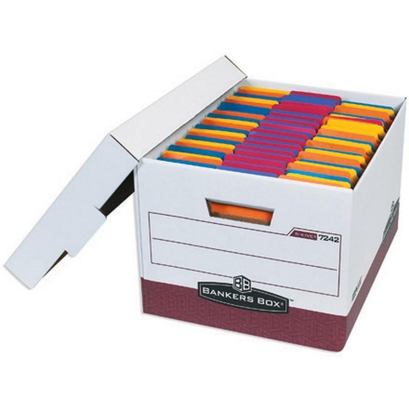 Letter legal premium white red file storage boxes with for Letter legal storage boxes with lids