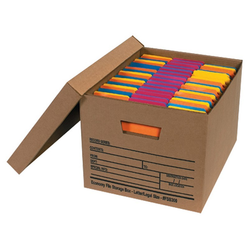 Letter legal economy file storage boxes with lids box of 12 for Letter legal storage boxes with lids