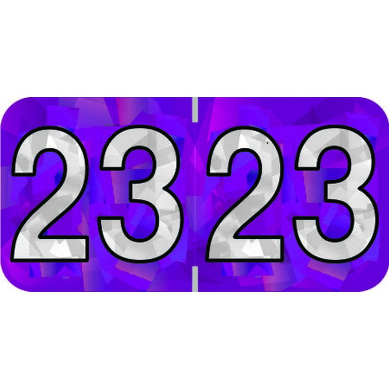 PMA Compatible 23 Yearband Labels, 1-1/2 X 3/4 - 500 Per Roll - $20.67