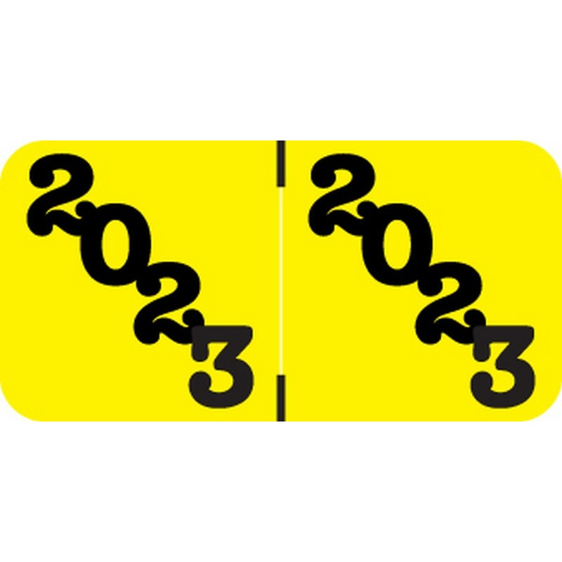 POS POYM Compatible 2023 Yearband Labels, 1-1/2 X 3/4 - 500 Per Roll - $20.08