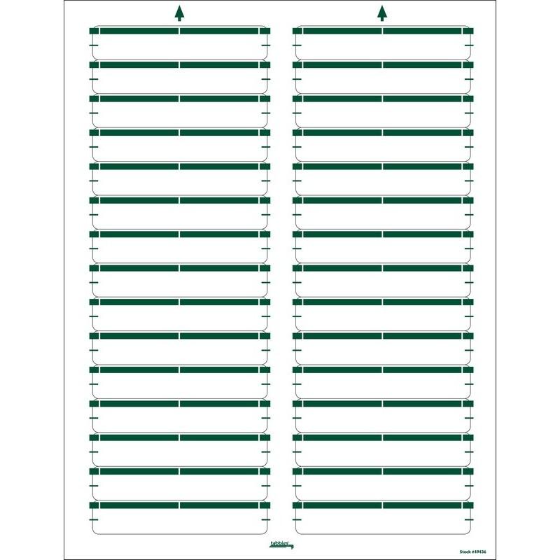 """Green Laser/Inkjet Name Labels, 3-7/16"""" X 9/16"""" - Pkg of 750 Labels 2342"""