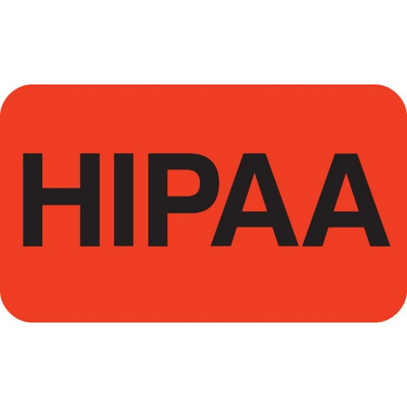 "HIPAA Labels, HIPAA - Red, 1-1/2"" X 7/8"" (Roll of 250) 2106"