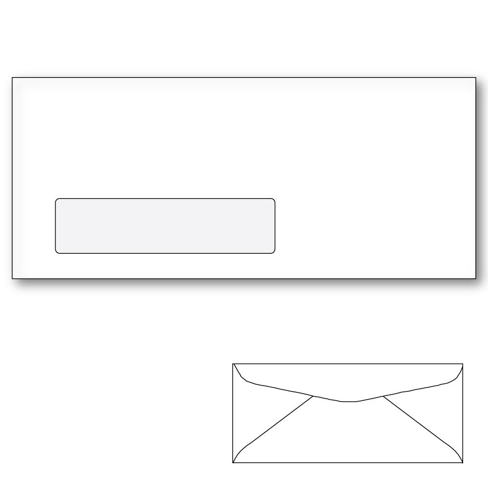 10 commercial window envelope diagonal seam white wove for 10 window envelope