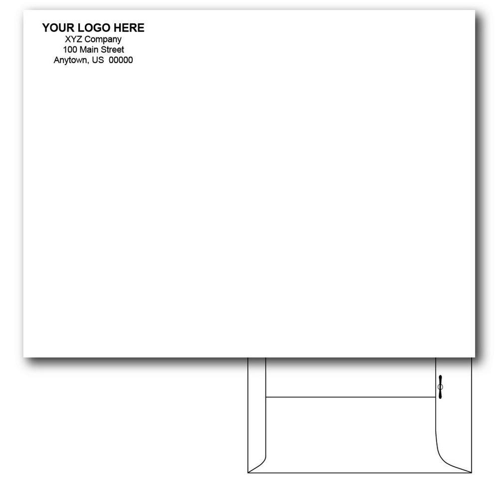 Custom printed 10 x 13 catalog envelopes metal clasp for 10 x 13 window envelope