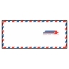 #10 Service Airmail Envelopes 4-1/8  x 9-1/2  – 500 Pcs <p>Finding the perfect international envelope for air mail calls for more than simply picking out envelopes with a red and blue border. The Supplies Shops airmail envelopes indicate that they are for airmail purposes on both the front and the back of each #10 airmail envelope – and they do so in three different languages. The red and blue airmail envelope emblem makes sure your business mail gets handled properly with wording for via airmail, correo aereo and par avion envelopes.</p> <p>Free shipping from The Supplies Shops on orders over $99 means you can direct your budget to more important matters that impact your business communications. For example, an order of custom envelopes will meet your needs even more closely than these SFI-certified #10 airmail envelopes already do. Contact us for a custom order quote today on anything from custom envelope printing to orders over 20 boxes.</p>