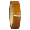 1/4  x 72 Yd Clear Polyester Film Tape (Case of 144 Rolls) 1/4  x 72 Yd Clear Polyester Film Tape is Used for temporary holding credit cards to mailers, edge splicing & holding, and tape hinge. This Polyester Film Tape uses a Rubber Adhesive application. With a tensile strength of 34 lbs/in., 1.6 mil thick tape features 18 oz/in. of adhesion and an elongation of 120%. Polyester Film Tape can also withstand temperatures ranging from -32° - 176° Fahrenheit. This is a 1 mil transparent film with a natural rubber resin adhesive approved for indirect food contact.