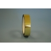 1/4  x 72 Yd Gold Metalized Mylar Tape (Case of 144 Rolls) 1/4  x 72 Yd Gold Metalized Mylar Tape is Used for electronic detection in identifying roll splices or end of roll, decorative trim for photo albums, toys, appliances, boats, etc, and splicing in high temps, including infrared radiation. This Metalized Mylar Tape uses an Acrylic Adhesive application. With a tensile strength of 18 lbs/in., 2 mil thick tape features 30 oz/in. of adhesion and an elongation of 60%. Metalized Mylar Tape can also withstand temperatures ranging from 0° - 300° Fahrenheit. This is a 1 mil silver or gold metalized film .