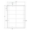 3.5  x 2  White Postage Tray Tags, 10 Tags per Sheet (250 Sheets per Carton) White Postage Tray Tags. Size: 3.5  x 2 . 10 Tags per Sheet (250 Sheets per Carton)