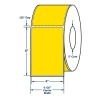 4  x 6  One Across Direct Thermal Labels. Color: Fluorescent Yellow. (1000 Labels Per Roll, 4 Rolls per Carton) One Across General Purpose Direct Thermal Labels are Perfed The face paper of these labels is a direct thermal non top-coated, non smudge-proof, chimi-thermal paper with standard sensitivity. When using these labels, contact with plasticizers (PVC) and fat should be avoided. The opacity of the face stock is 92% with a 90% brightness rating. The imaging color to display on the label is black and the scanability is visible red light. The adhesive is a modified acrylic dispersion permanent adhesive for many substrates. The minimum labeling temperature for this type of adhesive is 32° F, with a service temperature range from -4°F to 176°F. A 40# (2.5 mil) white kraft liner completes this label. The label liner is ideal for roll stock applications and photocell dispensing. The shelf life of these labels when stored at 70°F and 50% relative humidity (RH) is one year. Color: Fluorescent Yellow. Size: 4  x 6 .