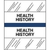 Health History Chart Divider Tabs, 1-1/4  x 1/2 , Dark Blue (Pack of 100) These chart divider tabs have titles printed in black ink on white stock with an easily identified color code edge. We offer a variety of titles to help you organize your files into the categories they fit in. The tabs are protected by clear laminate to resist wear. They are pressure sensitive so you can just peel and press them onto your chart divider sheets. This tab title is: HEALTH HISTORY in the color dark blue. Sold in 100 tabs per package.