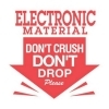 3  x 3  Electronic Material Don't Crush Don't Drop Please Labels (500 per Roll) Labels Measure: 3  x 3 , 500 Labels per Roll, Label Color: White / Red, Paper Label Stock On Silicone Coated Release Paper, Made in USA, Labels Ship in 2-3 Days