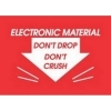 2  x 3  Electronic Material Don't Drop Don't Crush Labels (500 per Roll) Labels Measure: 2  x 3 , 500 Labels per Roll, Label Color: Red / White, Paper Label Stock On Silicone Coated Release Paper, Made in USA, Labels Ship in 2-3 Days