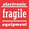 4  x 4  Electronic Equipment Fragile Labels (500 per Roll) Labels Measure: 4  x 4 , 500 Labels per Roll, Label Color: Red / White, Paper Label Stock On Silicone Coated Release Paper, Made in USA, Labels Ship in 2-3 Days
