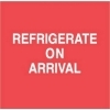 4  x 4  Refrigerate On Arrival Labels (500 per Roll) Labels Measure: 4  x 4 , 500 Labels per Roll, Label Color: White / Red, Paper Label Stock On Silicone Coated Release Paper, Made in USA, Labels Ship in 2-3 Days