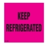 3  x 3  Keep Refrigerated Labels (500 per Roll) Labels Measure: 3  x 3 , 500 Labels per Roll, Label Color: FLR Pink/Black,  KEEP REFRIDGERATED , Paper Label Stock On Silicone Coated Release Paper, Made in USA, Labels Ship in 2-3 Days