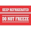 3  x 5  Keep Refrigerated Do Not Freeze Labels (500 per Roll) Labels Measure: 3  x 5 , 500 Labels per Roll, Label Color: White / Red, Paper Label Stock On Silicone Coated Release Paper, Made in USA, Labels Ship in 2-3 Days