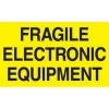 3  x 5  Fragile Electronic Equipment Labels (500 per Roll) <p>Labels Measure: 3  x 5 , 500 Labels per Roll, Label Color: Bright Yellow / Black, Paper Label Stock On Silicone Coated Release Paper, Made in USA, Labels Ship in 2-3 Days</p>