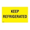 3  x 5  Keep Refrigerated labels (500 per Roll) <p>Labels Measure: 3  x 5 , 500 Labels per Roll, Label Color: Bright Yellow/Black,  KEEP REFRIGERATED , Paper Label Stock On Silicone Coated Release Paper, Made in USA, Labels Ship in 2-3 Days</p>