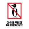 3  x 4  Do Not Freeze or Refrigerate Labels (500 per Roll) Labels Measure: 3  x 4 , 500 Labels per Roll, Label Color: White / Red / Black, Paper Label Stock On Silicone Coated Release Paper, Made in USA, Labels Ship in 2-3 Days