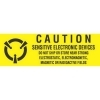 5/8  x 4  Caution Sensitive Electronic Devices Labels (500 per Roll) Labels Measure: 5/8  x 4  (0.625  x 4 ), 500 Labels per Roll, Label Color: Yellow / Black, Paper Label Stock On Silicone Coated Release Paper, Made in USA, Labels Ship in 2-3 Days