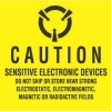 4  x 4  Caution Sensitive Electronic Devices Labels (500 per Roll) Labels Measure: 4  x 4 , 500 Labels per Roll, Label Color: Yellow / Black, Paper Label Stock On Silicone Coated Release Paper, Made in USA, Labels Ship in 2-3 Days