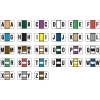 Jeter 7200 Compatible Alpha Labels, Laminated Stock, 15/16  X 1-5/8 , Starter Set - 27 Rolls of 500 Jeter 7200 Compatible Alpha Labels, Laminated Stock, 15/16  X 1-5/8 , Starter Set - 27 Rolls of 500 Laminated for protection Starter Set - 27 Rolls of 500 per roll Desktop (roll) sets LABEL SIZE: 1 5/8  W x 15/16 H, Before Folding 6
