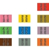 Barkley DBKE Compatible Double Digit Labels, Laminated Stock, 1  X 1-1/2 , Starter Set - 10 Rolls of 500 Barkley DBKE Compatible Double Digit Labels, Laminated Stock, 1  X 1-1/2 , Starter Set - 10 Rolls of 500 Laminated for protection 50 of each of 10 numbers, (00, 01, 02, 03, etc.) 10 colors 10 Rolls of 500 Desktop Roll Set LABEL SIZE: 1-1/2  W x 1  H, Before Folding 7