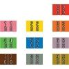 Barkley DBKM Compatible Double Digit Labels, Laminated Stock, 1  X 1-1/2 , Starter Set - 10 Rolls of 500 Barkley DBKM Compatible Double Digit Labels, Laminated Stock, 1  X 1-1/2 , Starter Set - 10 Rolls of 500 Laminated for protection 50 of each of 10 numbers, (00, 01, 02, 03, etc.) 10 colors 10 Rolls of 500 Desktop Roll Set LABEL SIZE: 1 1/2  W x 1  H, Before Folding 7