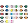 Safeguard Compatible Alpha Labels, Laminated Stock, 15/16  X 1-5/8 , Starter Set - 27 Rolls of 500 Safeguard Compatible Alpha Labels, Laminated Stock, 15/16  X 1-5/8 , Starter Set - 27 Rolls of 500 Laminated for protection 500 per roll Desktop (roll) Sets LABEL SIZE: 1 5/8  W x 15/16 H, Before Folding 2