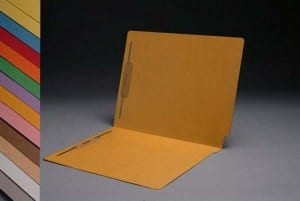 S-1502-GLD Goldenrod End Tab Folders with Fasteners