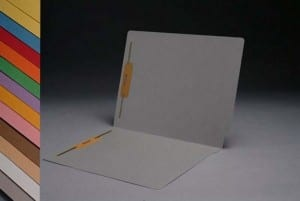 S-1502-GRA Gray End Tab Folders with Fasteners