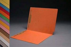 S-1502-ORG Orange End Tab Folders with Fasteners