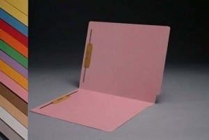 S-1502-PIN Pink End Tab Folders with Fasteners