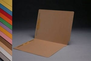 S-1502-T Tan End Tab Folders with Fasteners